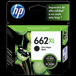 Tinta HP 662XL Negra CZ105AL