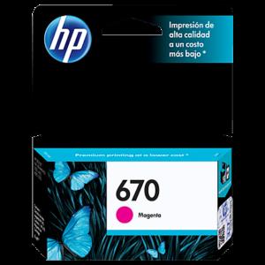 HP Tinta 670 Magenta CZ115AL