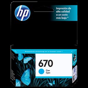 HP Tinta 670 Cyan CZ114AL