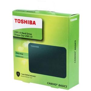 TOSHIBA Disco Duro Externo Canvio Basics 1TB HDTB410XK3AA