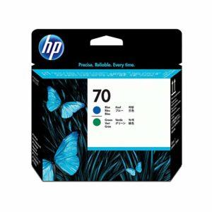 HP Cabezal de impresión 70 Azul y Verde C9408A