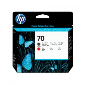 HP Cabezal de impresión 70 Negro Mate y Rojo C9409A