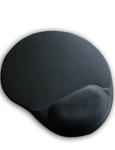 MicroLab Mouse Pad Gel Black Ergonomic