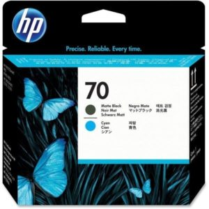 HP Cabezal de impresión 70 Negro Mate y Cyan C9404A