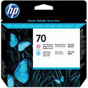 HP Cabezal de impresión 70 Magenta Claro y Cyan Claro C9405A