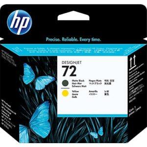 HP Cabezal de Impresión 72 Negro Mate y Amarillo C9384A
