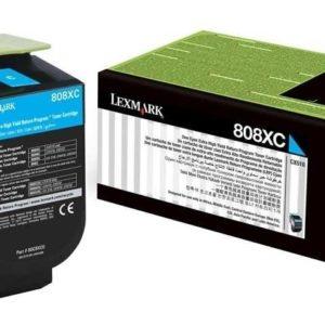 Lexmark Toner 808XC Cian 80C8XC0