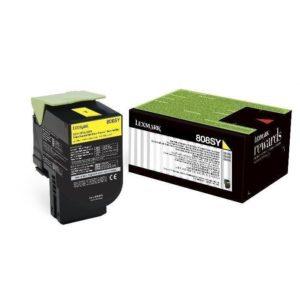 Lexmark Toner 808SY Amarillo 80C8SY0