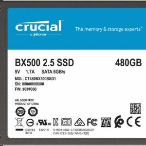 Crucial Disco SSD 480GB BX500 3D SATA CT480BX500SSD1