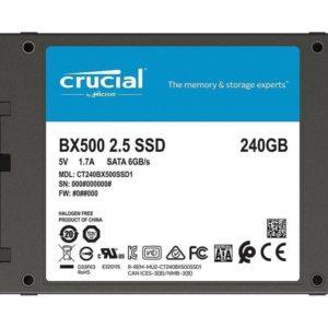 Crucial Disco SSD 240GB BX500 3D SATA CT240BX500SSD1