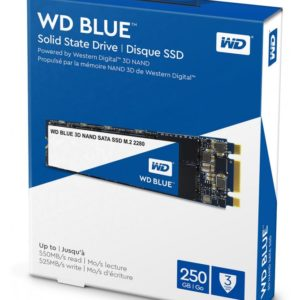 Western Digital Disco SSD 250GB Blue 3D NAND, M.2 2280 WDS250G2B0B