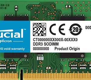 Crucial Memoria Ram 4GB Sodimm DDR3 1600 CT51264BF160B