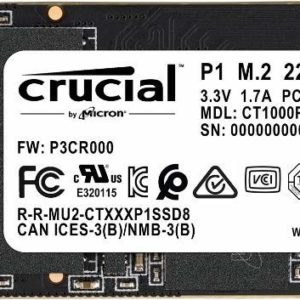 Crucial Disco SSD P1 1TB 3D NAND Notebook CT1000P1SSD8