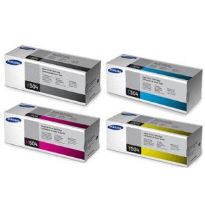 Samsung Toner Juego CLT-K504S CLT-C504S CLT-M504S CLT-Y504S 4 colores