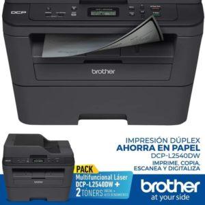 BROTHER Impresora Multifuncional DCPL2540DW + Toner extra