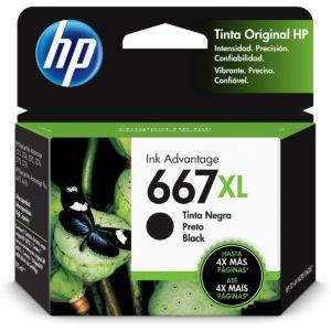 Tinta HP 667XL Negro 3YM81AL