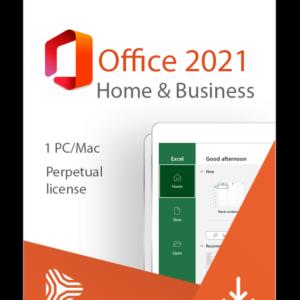 Licencia Microsoft Office 2021 Hogar y Negocios 1 pc Versión Perpetua Descargable T5D-03487